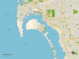 Political Map of Coronado, CA Art