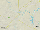 Political Map of Middleburg, FL Photo