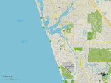 Political Map of Venice, FL Posters