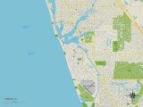 Political Map of Venice, FL Prints