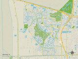 Political Map of Weston, FL Prints