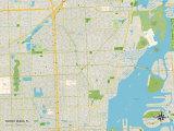 Political Map of North Miami, FL Print