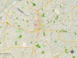 Political Map of Atlanta, GA Prints