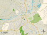 Political Map of Petersburg, VA Print