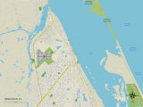 Political Map of Sebastian, FL Print