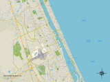Political Map of Daytona Beach, FL Prints