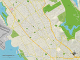 Political Map of San Leandro, CA Posters