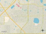Political Map of Oak Ridge, FL Photo