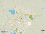 Political Map of San Angelo, TX Prints