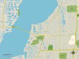 Political Map of McGregor, FL Print