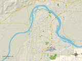 Political Map of Fort Smith, AR Photo