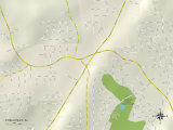Political Map of Chalkville, AL Print