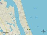 Political Map of Villano Beach, FL Photo
