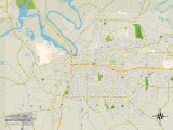 Political Map of Montgomery, AL Prints