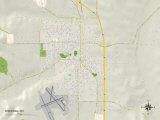 Political Map of Sheridan, WY Prints