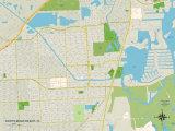 Political Map of North Miami Beach, FL Posters