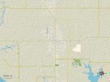 Political Map of Foley, AL Prints