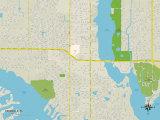 Political Map of Seminole, FL Prints