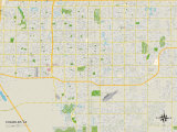 Political Map of Chandler, AZ Prints
