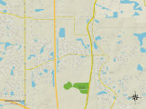 Political Map of Southchase, FL Posters
