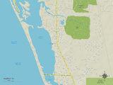 Political Map of Osprey, FL Prints