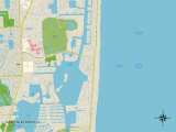 Political Map of Sunny Isles Beach, FL Posters