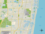 Political Map of Pompano Beach, FL Prints
