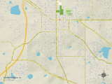 Political Map of South Apopka, FL Prints