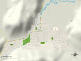 Political Map of Jackson, WY Prints