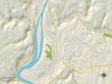Political Map of Weirton, WV Prints