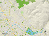 Political Map of Union City, CA Photo