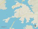 Political Map of Cedar Bluff, AL Prints