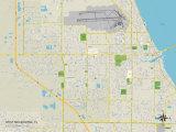 Political Map of West Melbourne, FL Print
