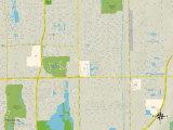 Political Map of Villas, FL Prints