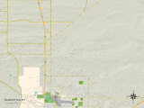 Political Map of Ranchettes, WY Prints