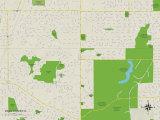 Political Map of Park Forest, IL Prints