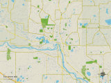 Political Map of Elk River, MN Posters