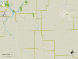 Political Map of Saint Anne, IL Prints