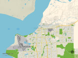Political Map of Anchorage, AK Prints