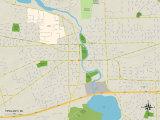 Political Map of Ypsilanti, MI Prints