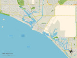 Political Map of Seal Beach, CA Posters