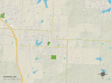 Political Map of Raymore, MO Poster
