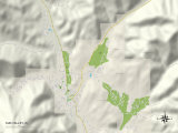 Political Map of Sun Valley, ID Prints