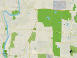 Political Map of Wayne, IL Photo