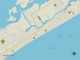 Political Map of Ventnor City, NJ Prints