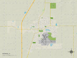 Political Map of Rantoul, IL Prints