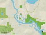 Political Map of Port Barrington, IL Prints
