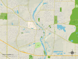 Political Map of West Dundee, IL Print