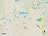 Political Map of Hibbing, MN Prints