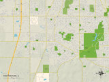 Political Map of Richton Park, IL Posters